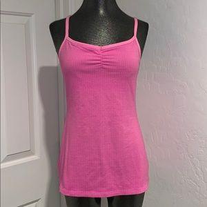 LUCY 2-in-1 pink tank & sports bra medium